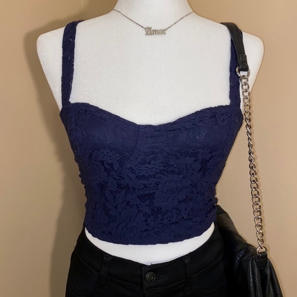 Charlotte Russe Lace Crop top